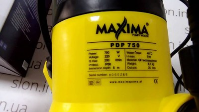 Дренажный насос Maxima PDP 750